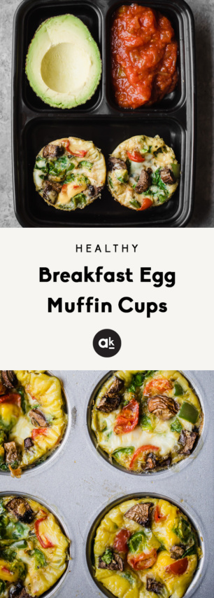 collage of egg muffin cups