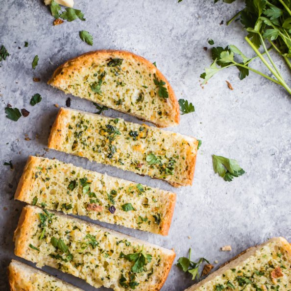 garlic bread recipe sliced