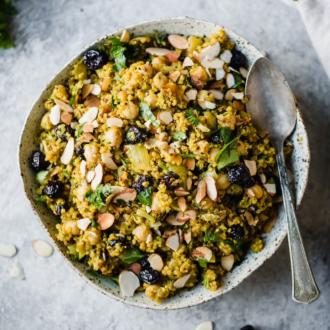 One Pot Moroccan Chickpea Quinoa Salad Ambitious Kitchen