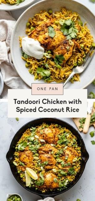 collage of tandoori chicken