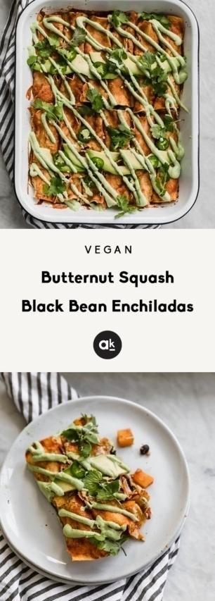 collage of vegan enchiladas