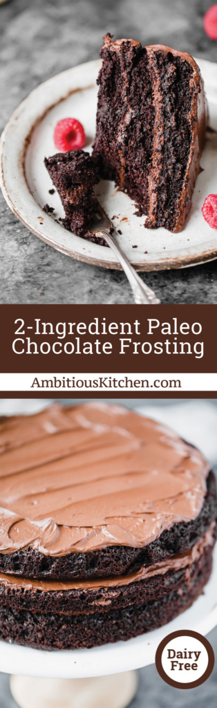 Paleo Fudge Frosting For Cake Chocolate Chips
