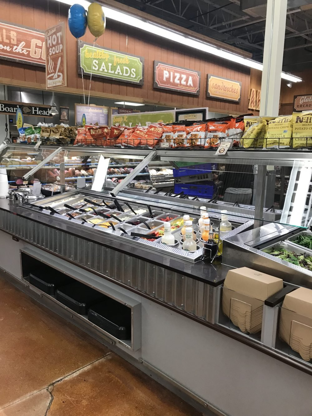 Salad bar in a grocery store