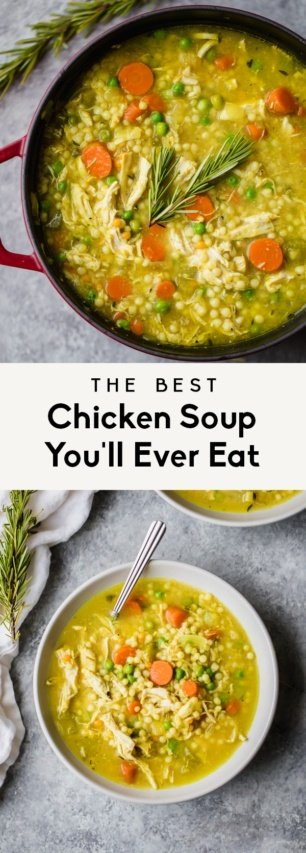collage of the best chicken soup recipe