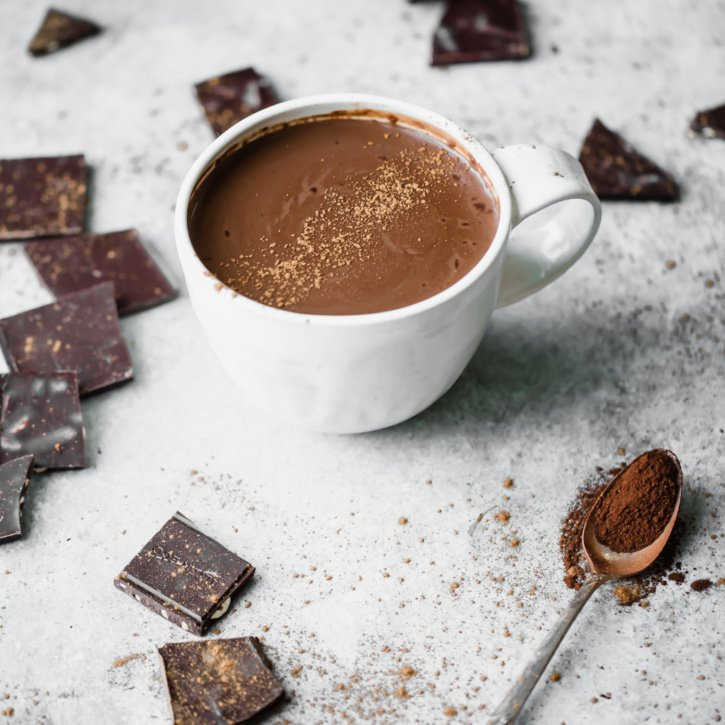 Incredibly cozy, healthy Mexican hot chocolate that's perfectly sweet with a hint of spice. Enjoy a mug for a decadent treat that's vegan!