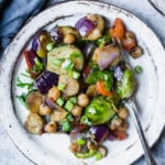 Kung Pao Chickpea & Brussels Sprouts Stir-Fry