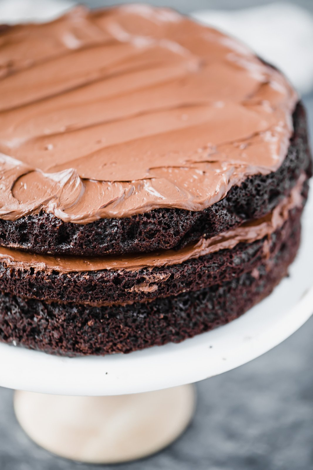 paleo chocolate frosting on a cake