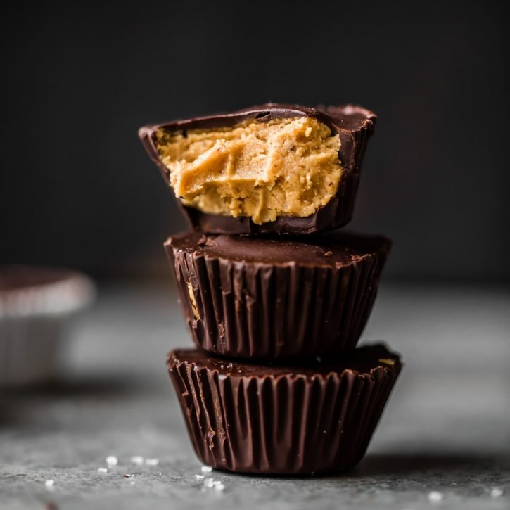 Homemade Healthy Peanut Butter Cups Low Carb Vegan Gluten Free Ambitious Kitchen