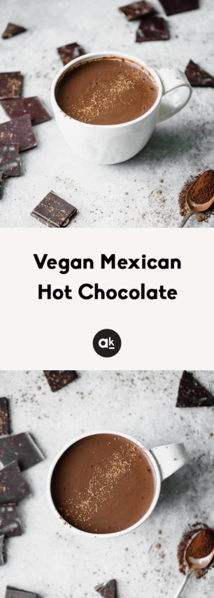 collage of vegan mexican hot chocolate
