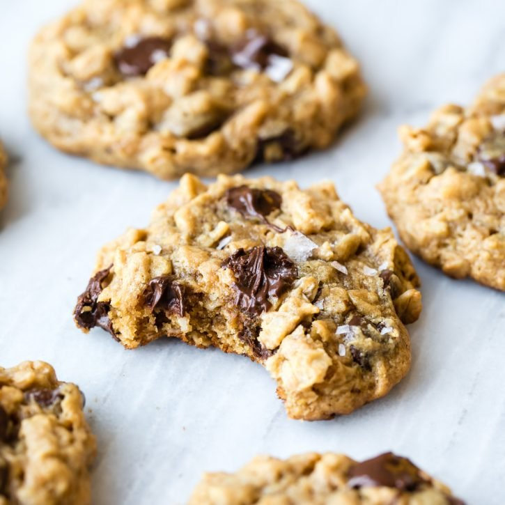 Flourless Peanut Butter Oatmeal Chocolate Chip Cookies Ambitious