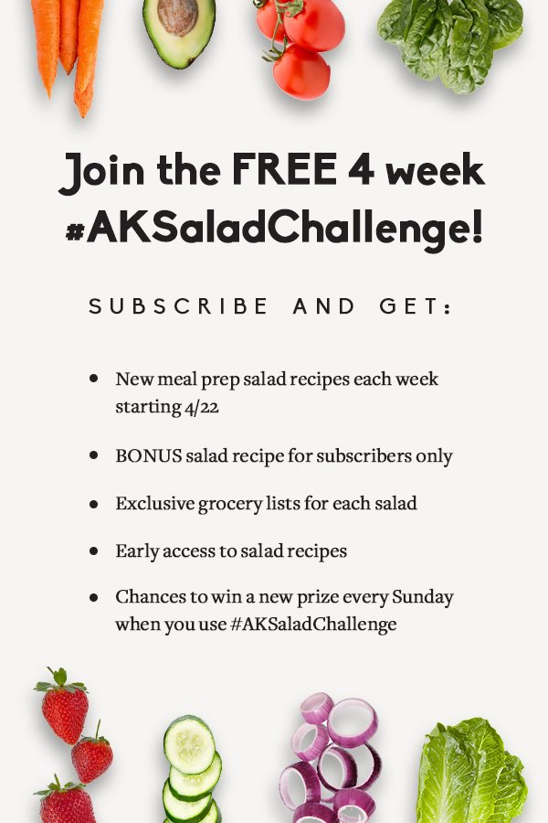 Announcement to join the free 4 week salad challenge