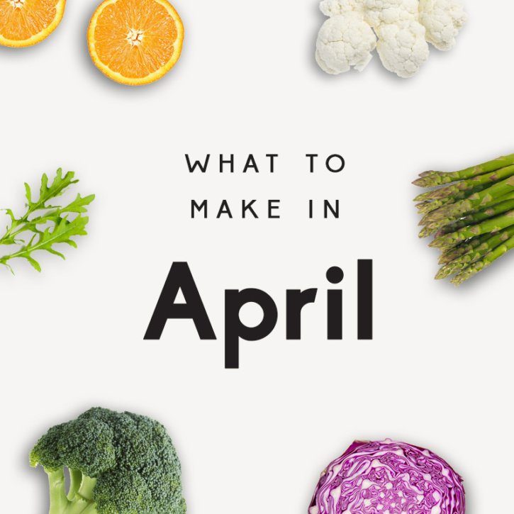 Delicious, seasonal recipes to make in April! These healthy recipes use seasonal produce and are the perfect way to add fruits and veggies to your meals this spring. The best spring brunches to the incredible, healthy treats!