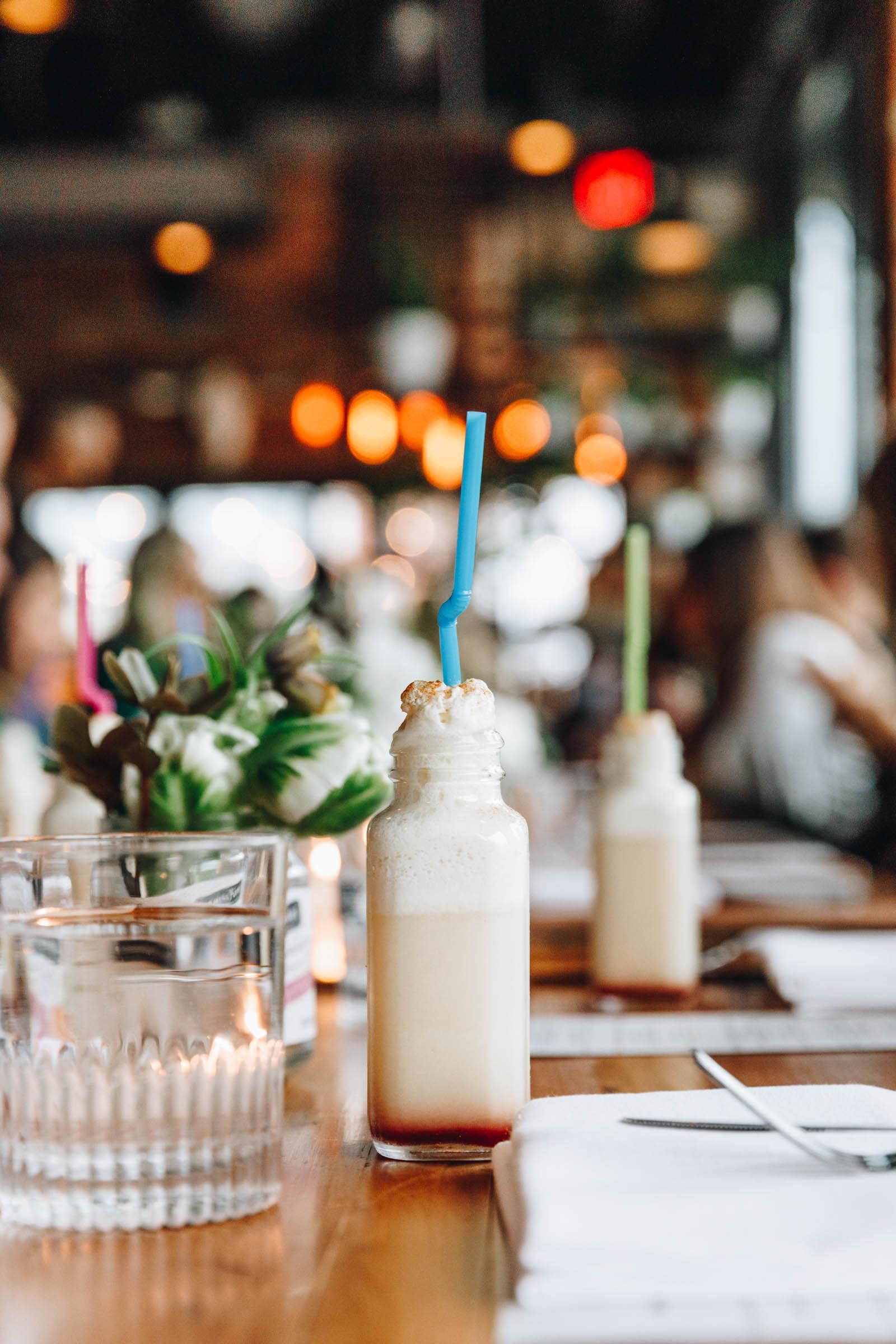 milkshake with a swirly straw
