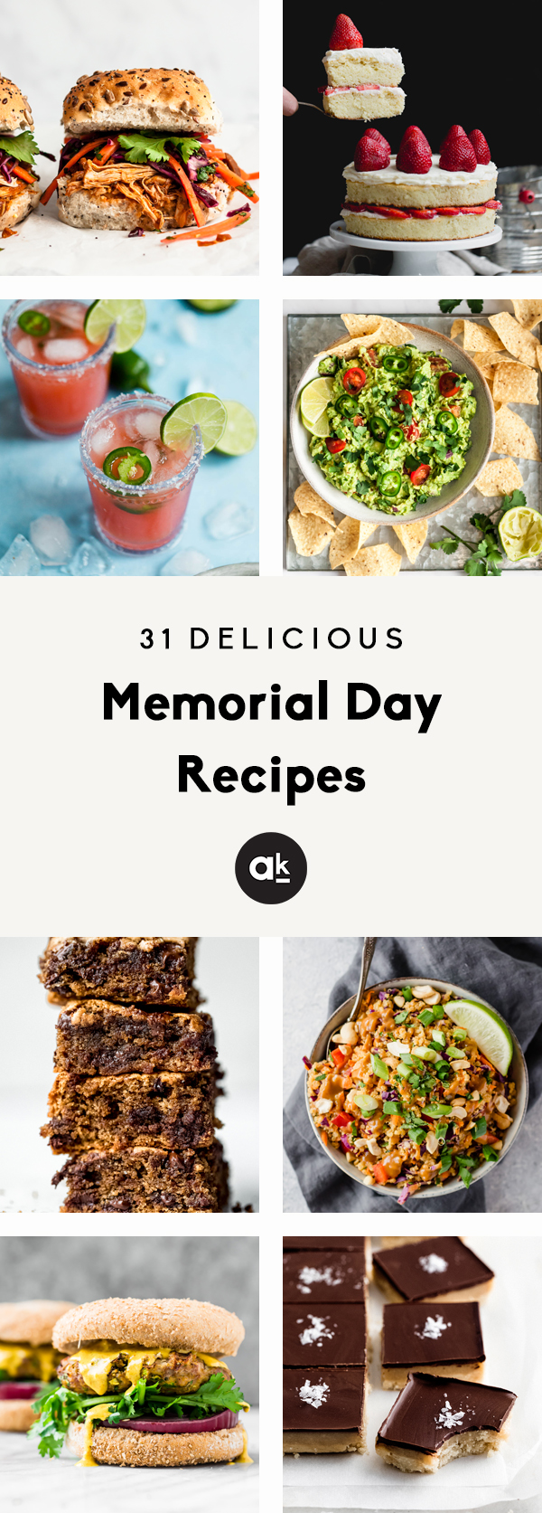collage of memorial day recipes with text overlay