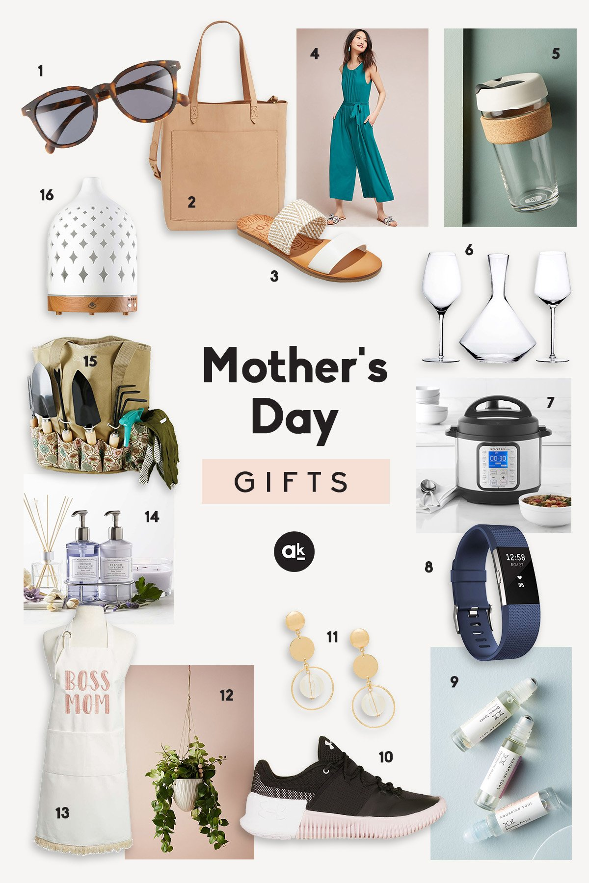 Collage of Mother's Day Gifts