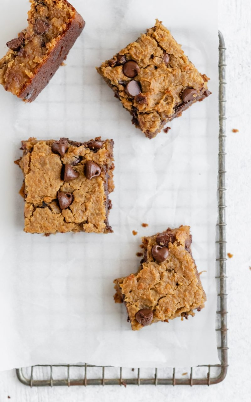Flourless Chocolate Chip Chickpea Blondies Ambitious Kitchen