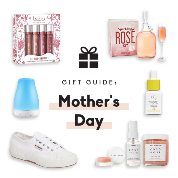 collage of mother's day gifts under $50