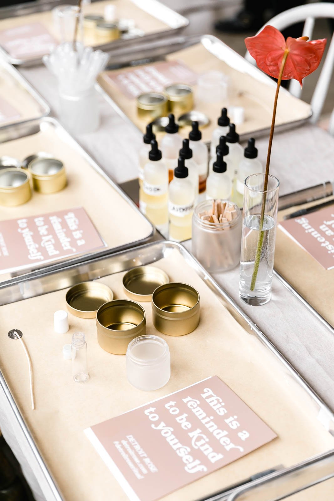 DIY face mask kits on a table