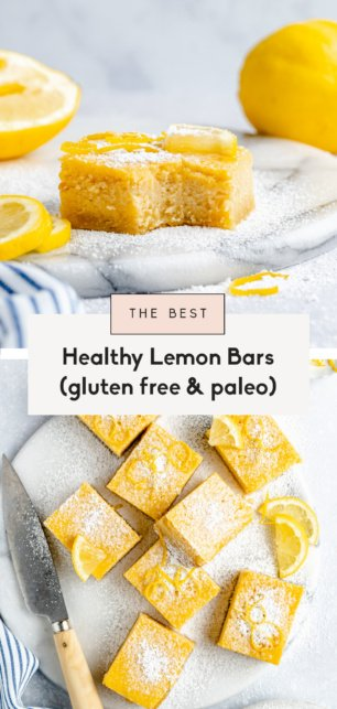 collage of the best healthy lemon bars