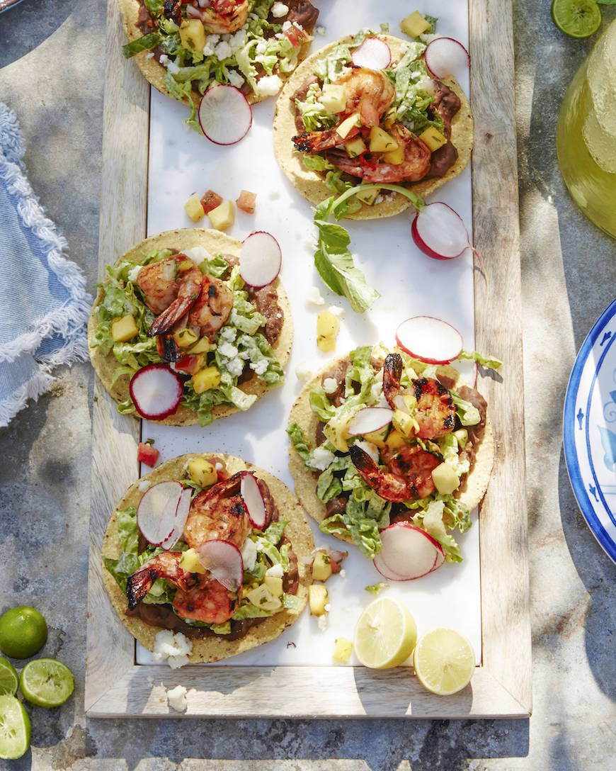 Spicy Shrimp Tostadas | What's Gaby Cooking