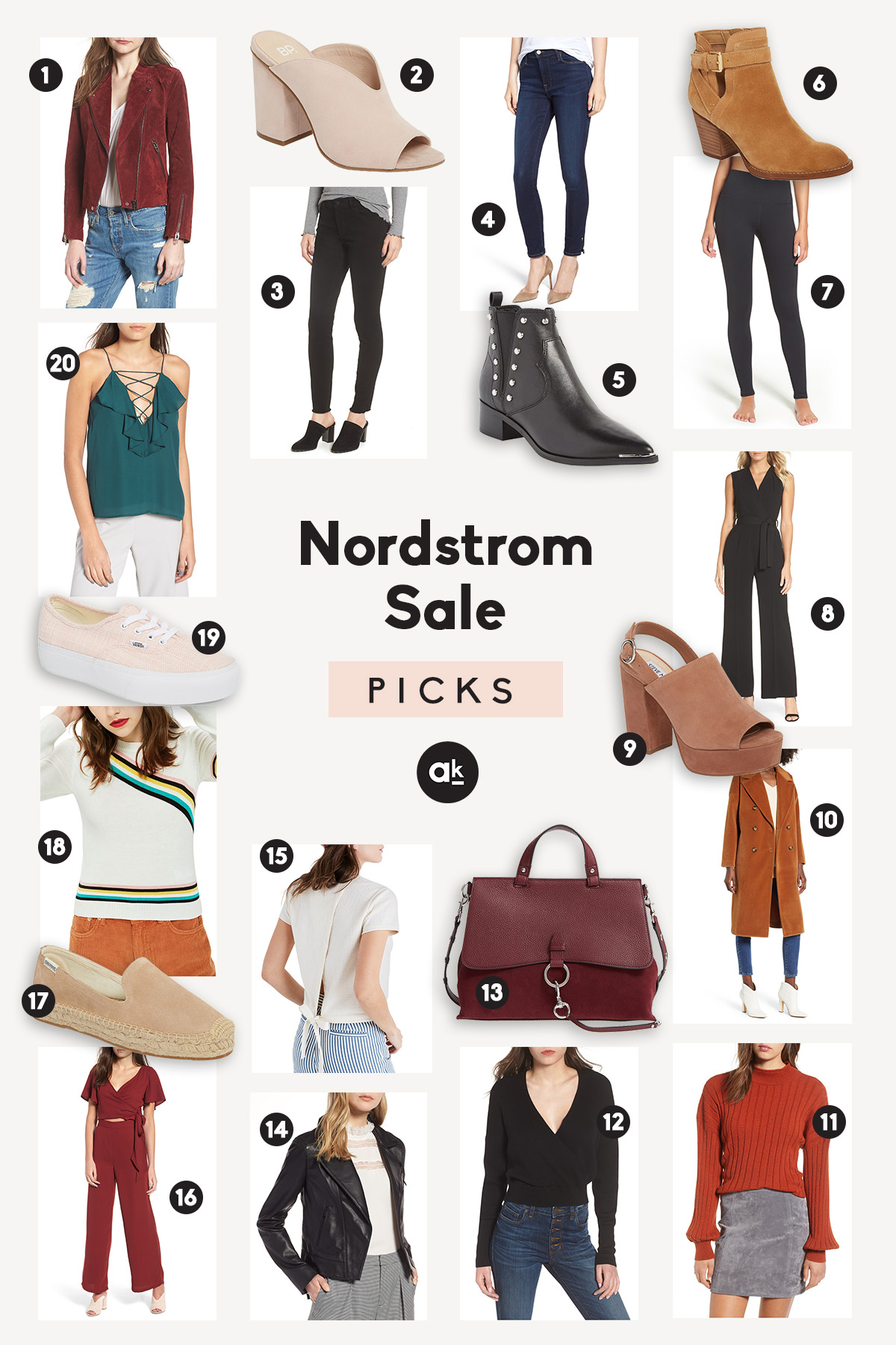 Our top 20 picks from the 2018 Nordstrom Anniversary Sale! From new jeans and booties to cozy sweaters and fun jumpsuits, there's something for everyone in here.