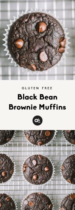 collage of black bean muffins