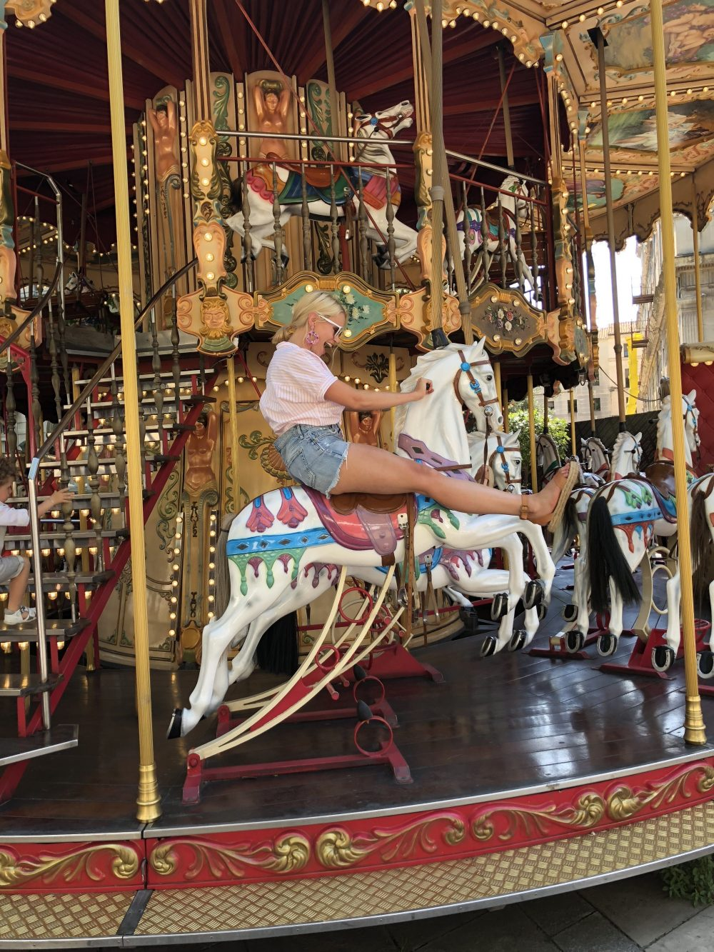 monique on a carousel