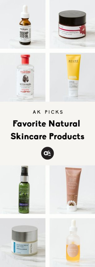 collage of natural skincare products