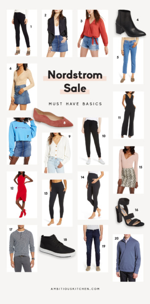 collage of nordstrom sale items