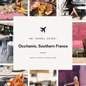 ak travel guide: occitanie france graphic