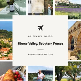 AK travel guide graphic: rhone valley, southern france