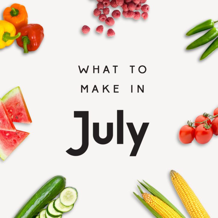 what to make in july with produce icons