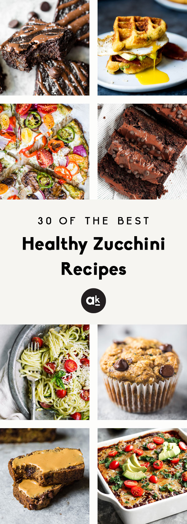 The best healthy zucchini recipes that are perfect for any meal of the day! From quick breads and brownies to delicious lasagna and meatballs, these easy, healthy zucchini recipes will be be your new favorites to make year-round.