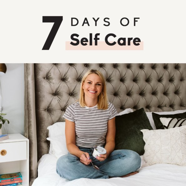 7 day self care challenge graphic