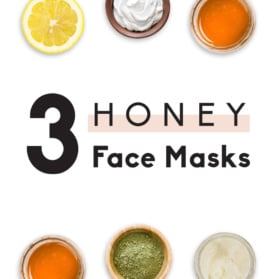 collage of 3 homemade face masks