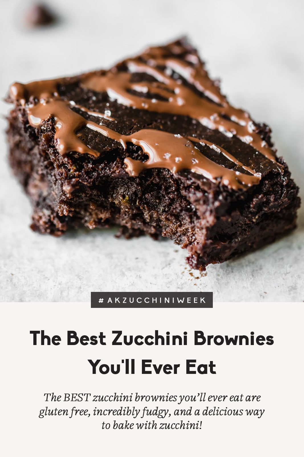 The BEST zucchini brownies you'll ever eat are gluten free, deliciously fudgy, and the perfect way to bake with zucchini. Top them with fancy sea salt to make them extra special!