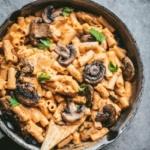 sweet potato pasta in a pan