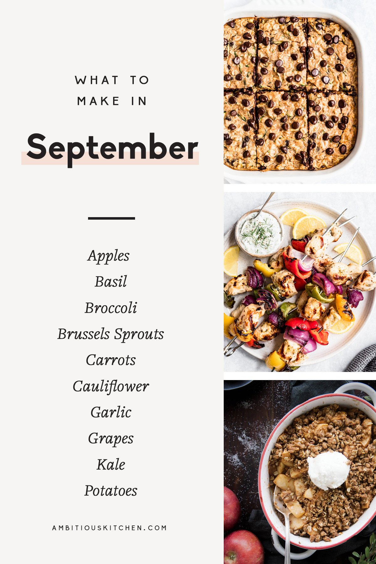 30 Seasonal Recipes to Cook in September | Ambitious Kitchen