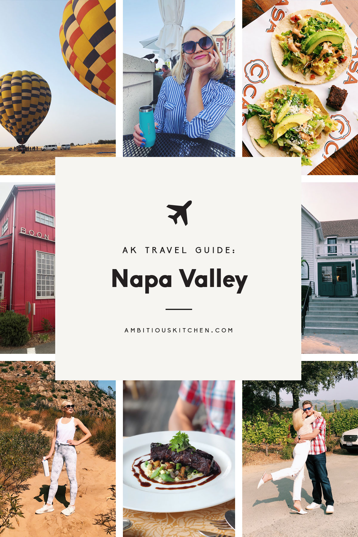 collage of ak travel guide: napa valley