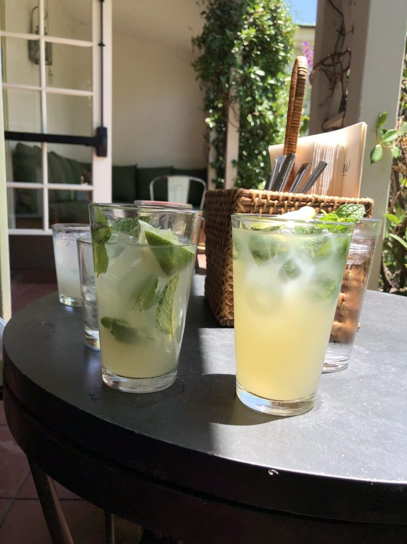 two lemonades on a table