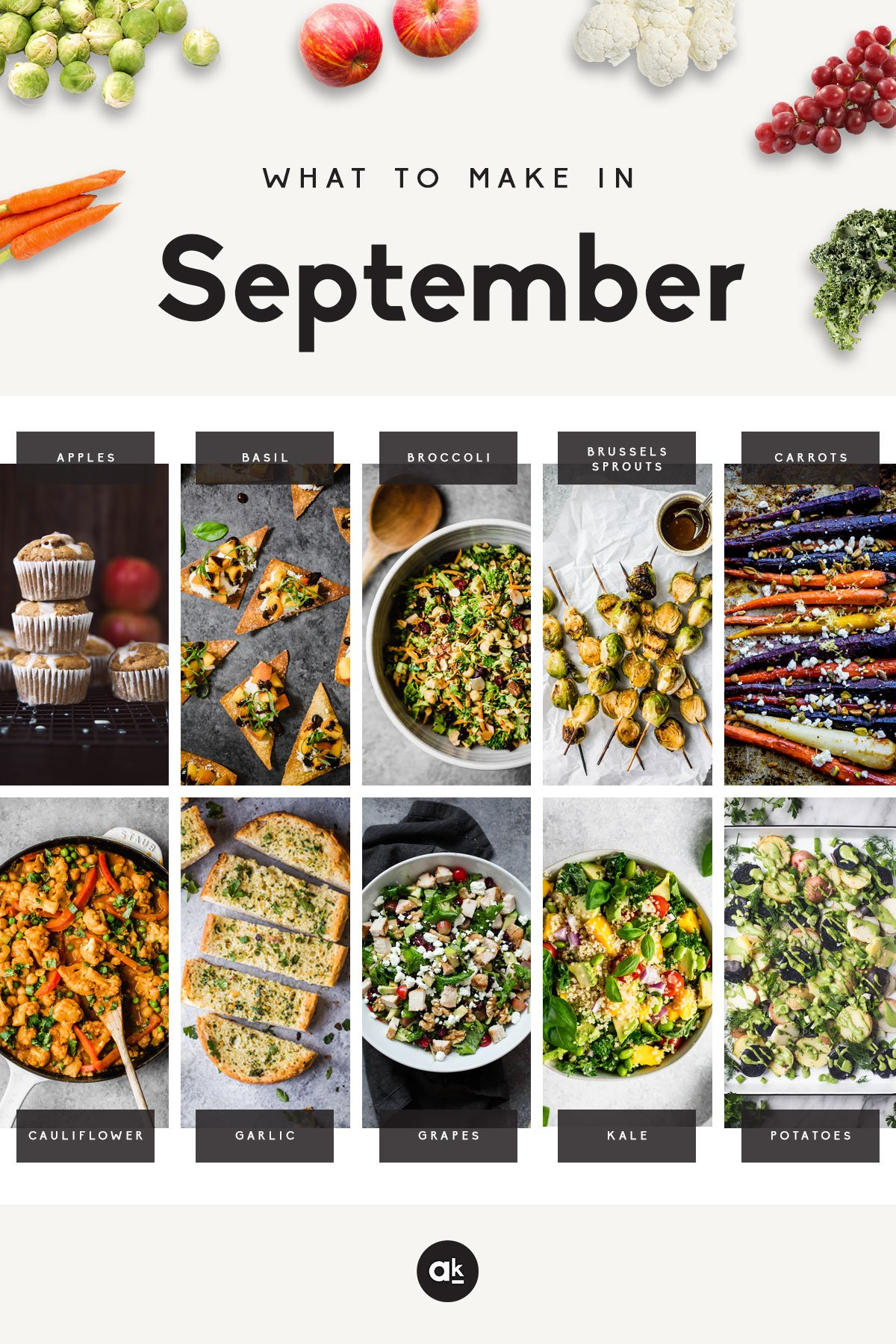 30 incredible, seasonal recipes to make in September! Enjoy a new recipe each day this month, and celebrate delicious produce all month long.
