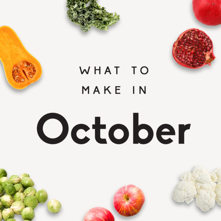 what to make in october graphic