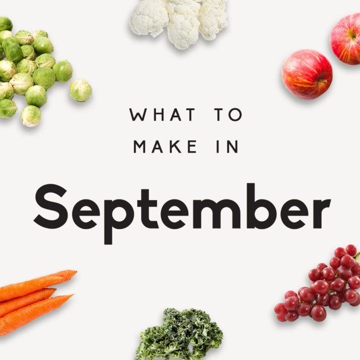 graphic of recipes to make in september