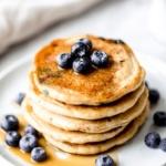 almond flour pancakes stacked