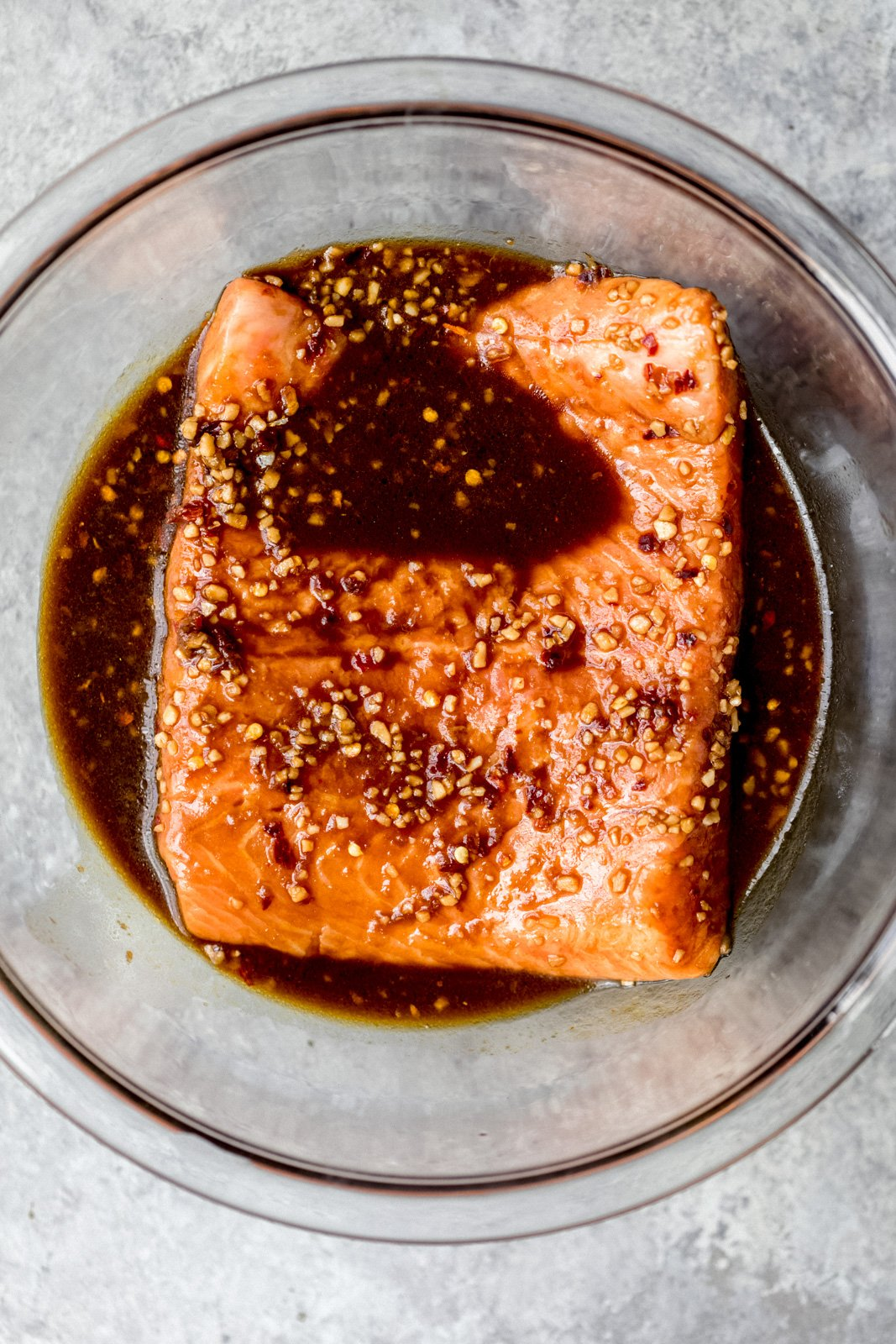 firecracker salmon unbaked in a bowl