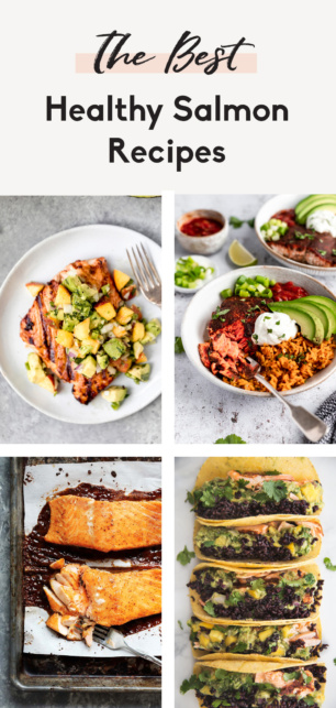 collage of the best healthy salmon recipes