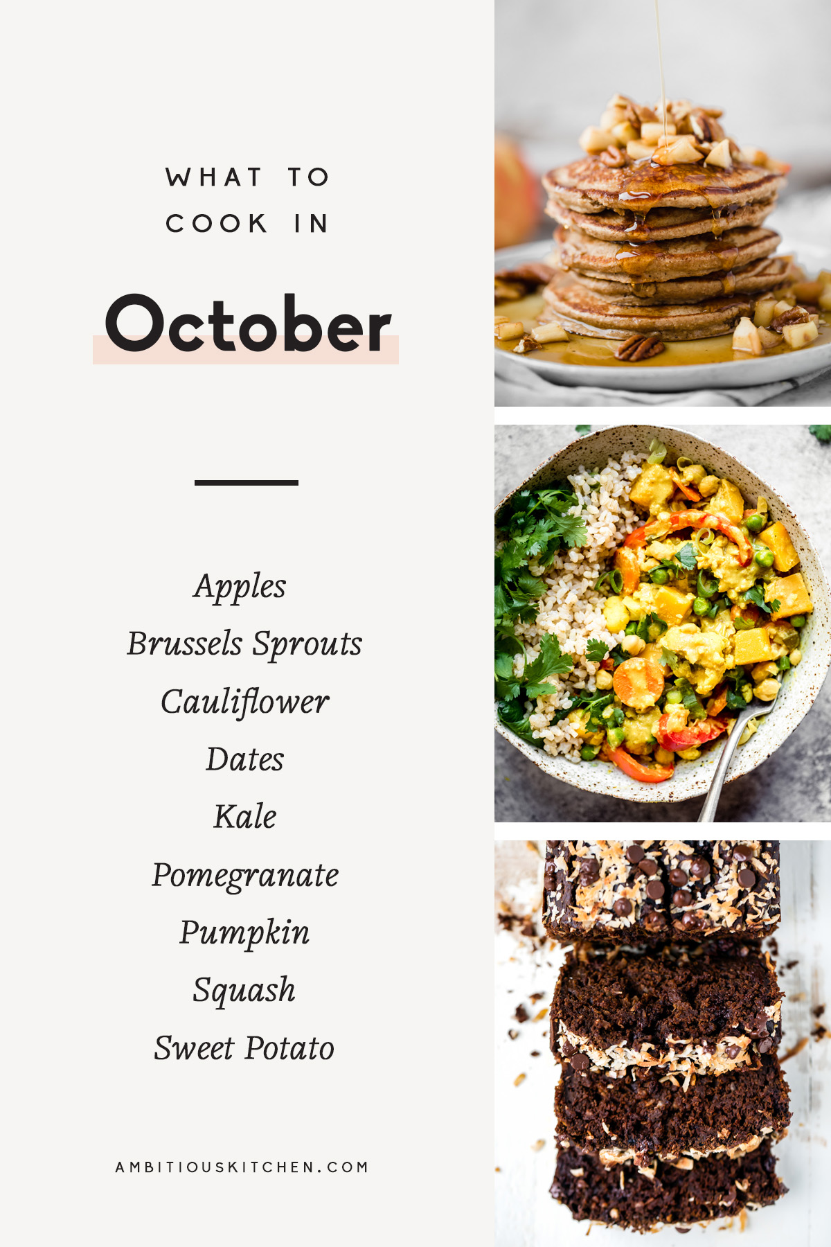 collage of recipes to cook in october