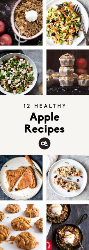 collage of healthy apple recipes