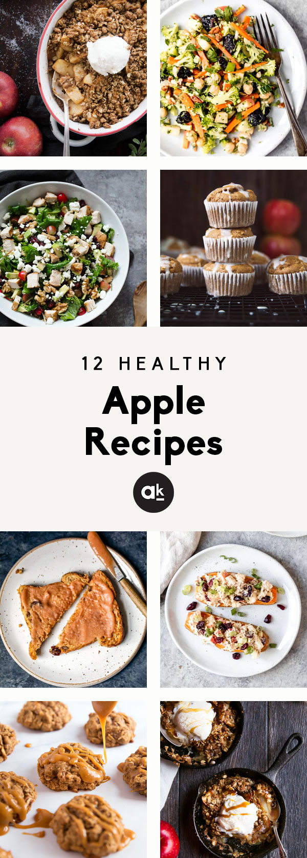 The BEST healthy apple recipes to make all season long! From delicious apple muffins to fresh, filling salads, these recipes are the perfect excuse to head to your local apple orchard.