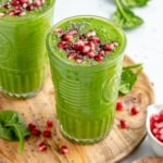 two immune boosting wellness smoothies in glasses